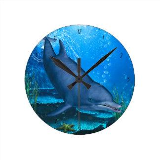 Dolphin Round Clock
