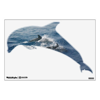 Dolphin Shaped Wall Decal