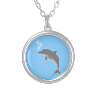 Dolphin Silver Plated Necklace