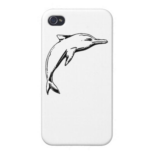 Dolphin Sketch Covers For iPhone 4