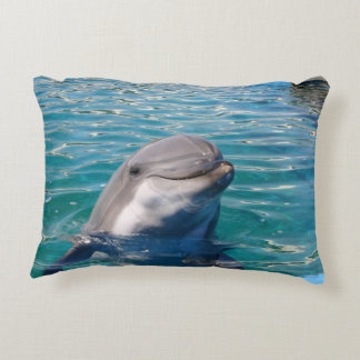 Dolphin Smile Accent Pillow