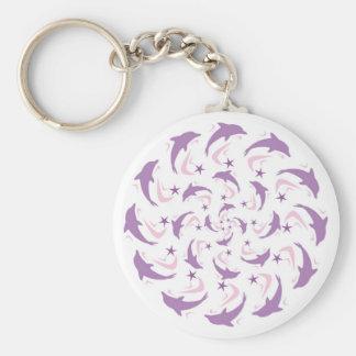 Dolphin spiral keychain