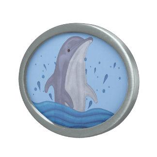 Dolphin Splash Belt Buckle