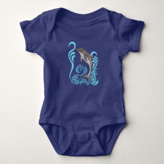 Dolphin Splashing Baby Bodysuit