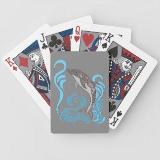Dolphin Splashing Bicycle Playing Cards