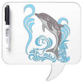 Dolphin Splashing Dry Erase Whiteboard