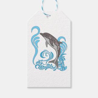 Dolphin Splashing Gift Tags