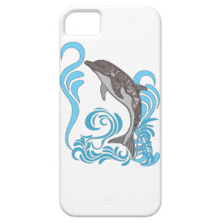 Dolphin Splashing iPhone 5 Cover
