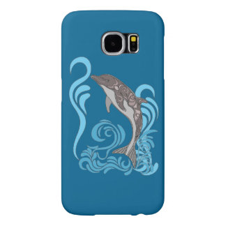 Dolphin Splashing Samsung Galaxy S6 Cases