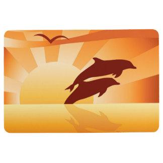 Dolphin Sunset Floor Mat