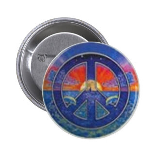 Dolphin Sunset Peace 2 Inch Round Button