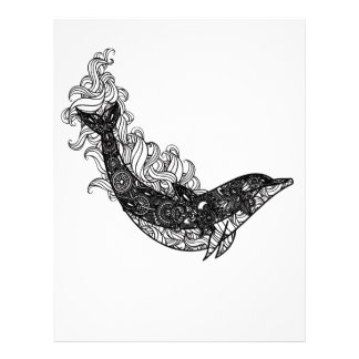 Dolphin Swimming Letterhead
