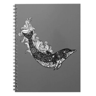 Dolphin Swimming Notebook