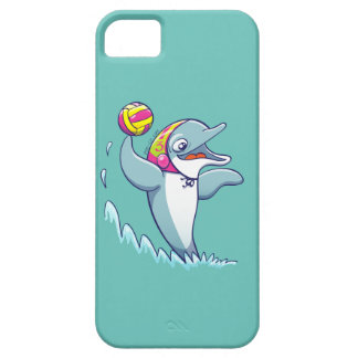 Dolphin throwing the ball while playing water polo iPhone 5 covers
