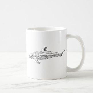 Dolphin Two Line Art Design Coffee Mug
