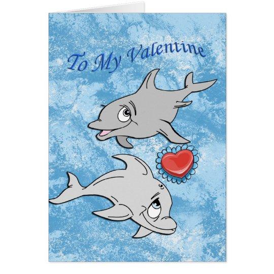 Dolphin Valentine's Day Card