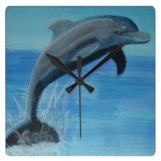 dolphin wall clocks