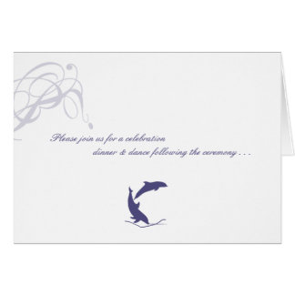Dolphin Wedding Reply Card