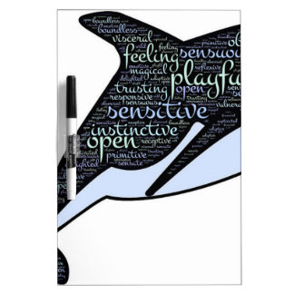 Dolphin with Motivational Words Dry Erase Board