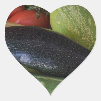 Dolphin Zucchini Heart Sticker