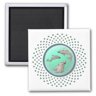 Dolphinday Square Magnet
