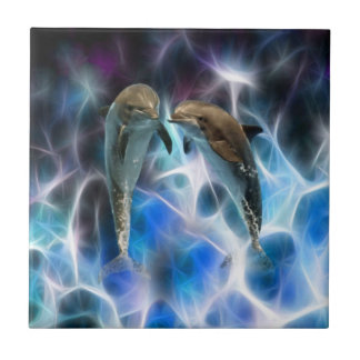 Dolphins and fractal crystals tiles