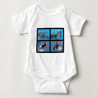 Dolphins and killer whales baby bodysuit