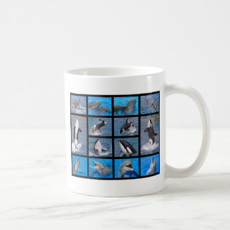 Dolphins and killer whales coffee mug