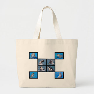 Dolphins and killer whales large tote bag