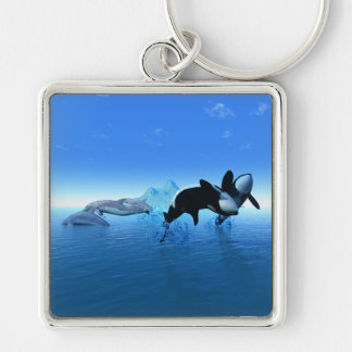 Dolphins and Orca's Keychain