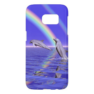 Dolphins and Rainbow Samsung Galaxy S7 Case