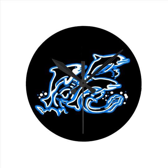 Dolphins at Play Wall Clock