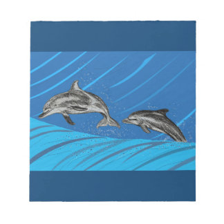 Dolphins at sea notepads