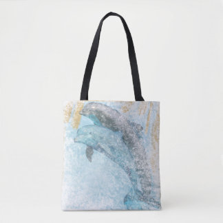 Dolphins Coastal Living   Tote Bag