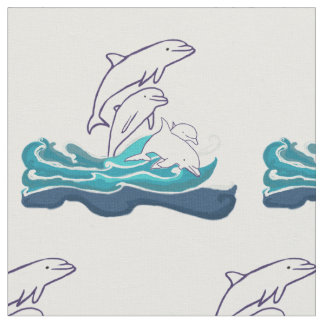 "Dolphins Custom Combed Cotton (56"" width) Fabric"