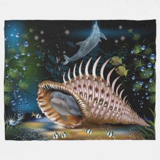Dolphins Fantasy Fleece Blanket, Large