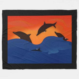 Dolphins Fleece Blanket