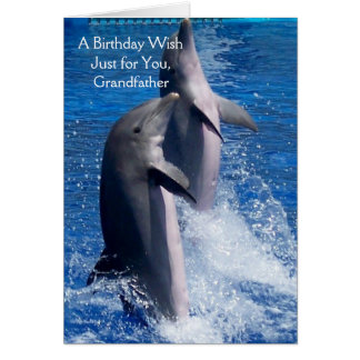 Dolphins Grandfather Birthday Card