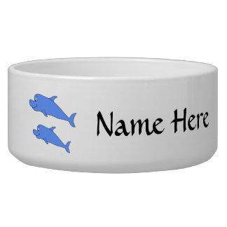 Dolphins in blue. dog food bowls