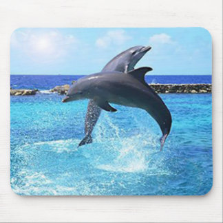 Dolphins in the ocean mouse pad