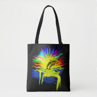 Dolphins in the Sunshine with Hand Tote Bag