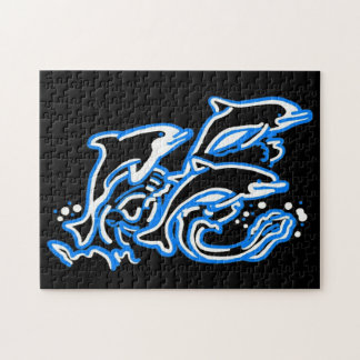 Dolphins in the Waves Jigsaw Puzzle