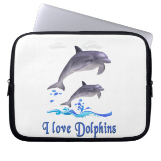 Dolphins items laptop sleeve
