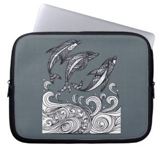 Dolphins Jumping Laptop Sleeve