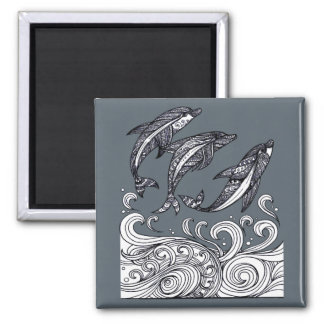 Dolphins Jumping Magnet