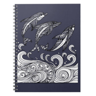 Dolphins Jumping Notebook