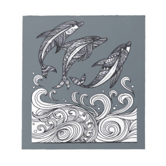 Dolphins Jumping Notepads