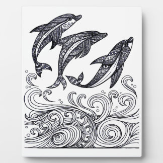 Dolphins Jumping Plaque