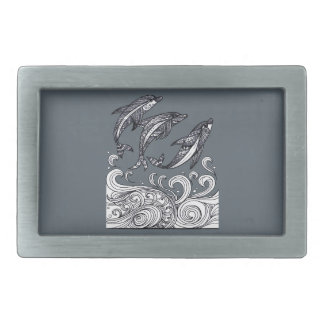 Dolphins Jumping Rectangular Belt Buckles