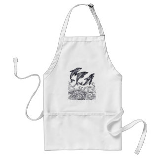 Dolphins Jumping Standard Apron